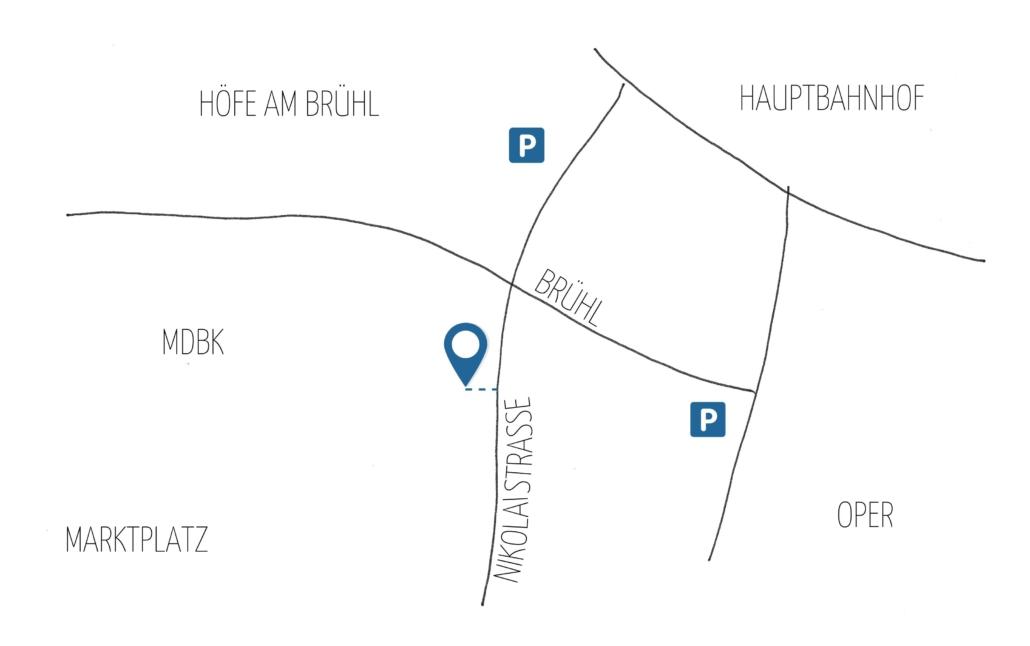 Standort Nikolaistraße 39-45 in Leipzig-Mitte
